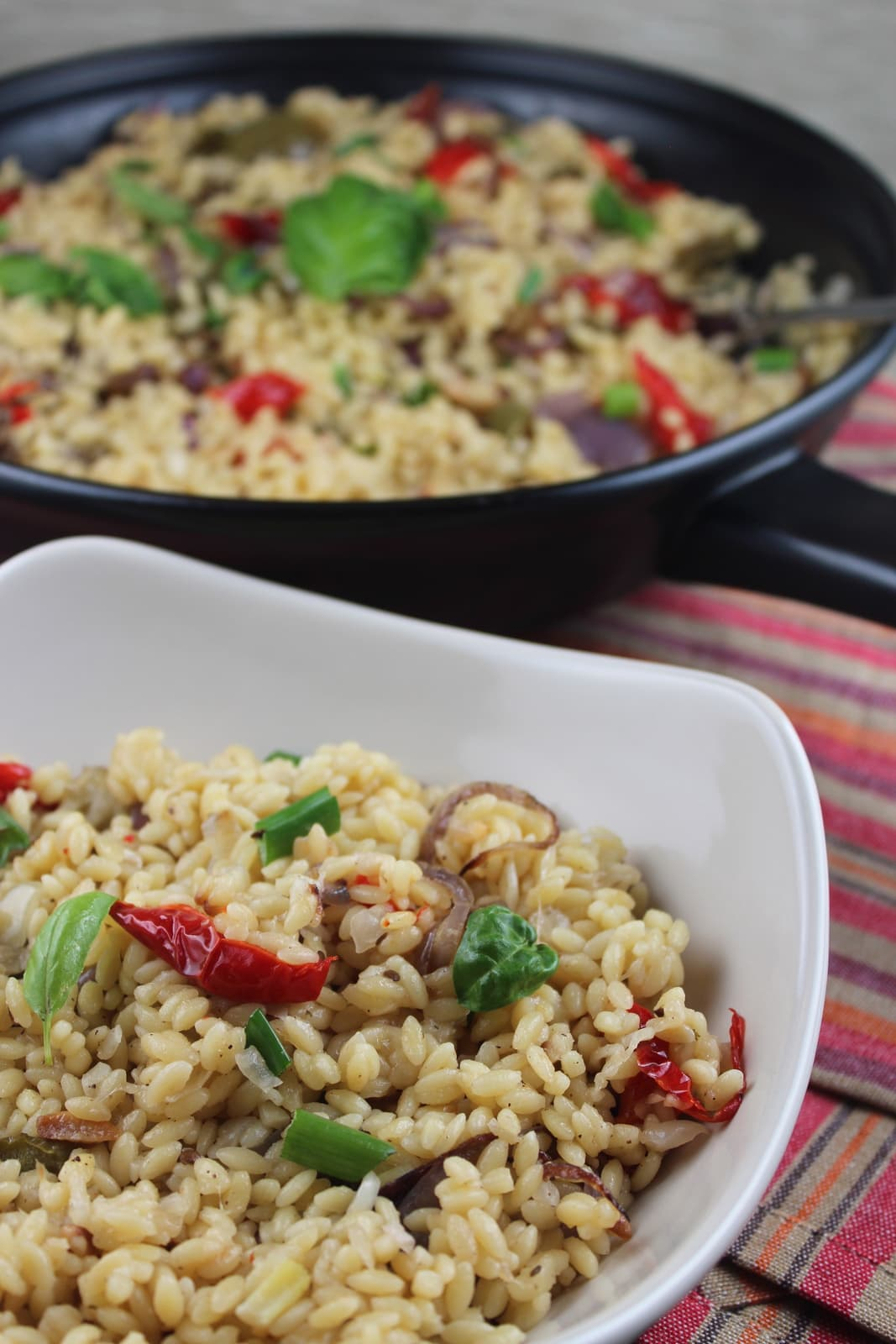 roasted vegetable orzo, creamy orzo recipe, risotto style orzo, creamy ...