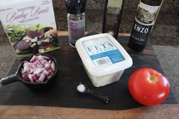 Caramelized Beet and Feta Salad Ingredients
