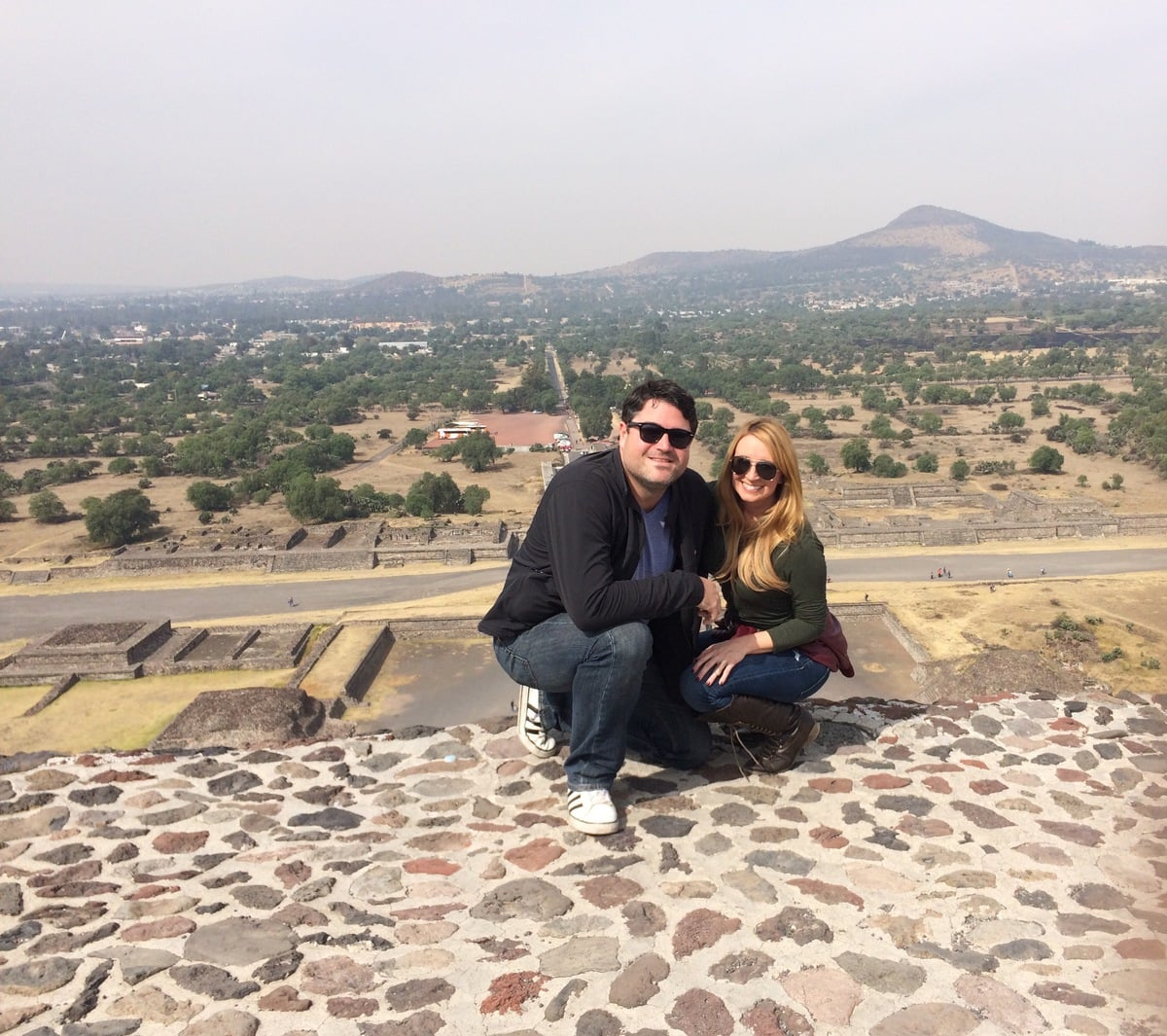 At the Teotihuacan Pyramids in Mexico City