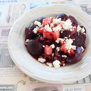 Caramelized Beet and Feta Cheese Salad