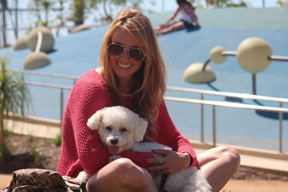 Whitney Bond with Dog