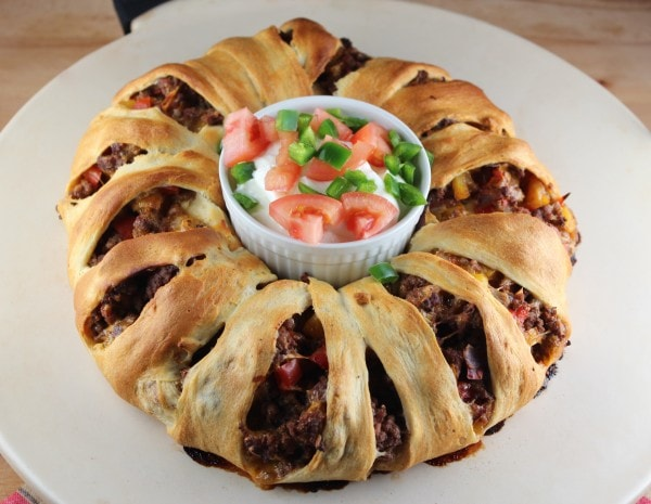 Bell Pepper Ground Beef Taco Ring
