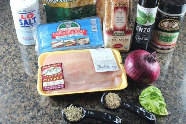 Gluten Free Chicken Parmesan Ingredients