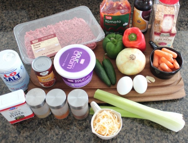 Mexican Meatloaf Ingredients