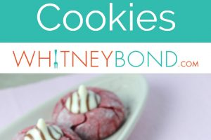 Red velvet cookies with hersheys hug in the middle