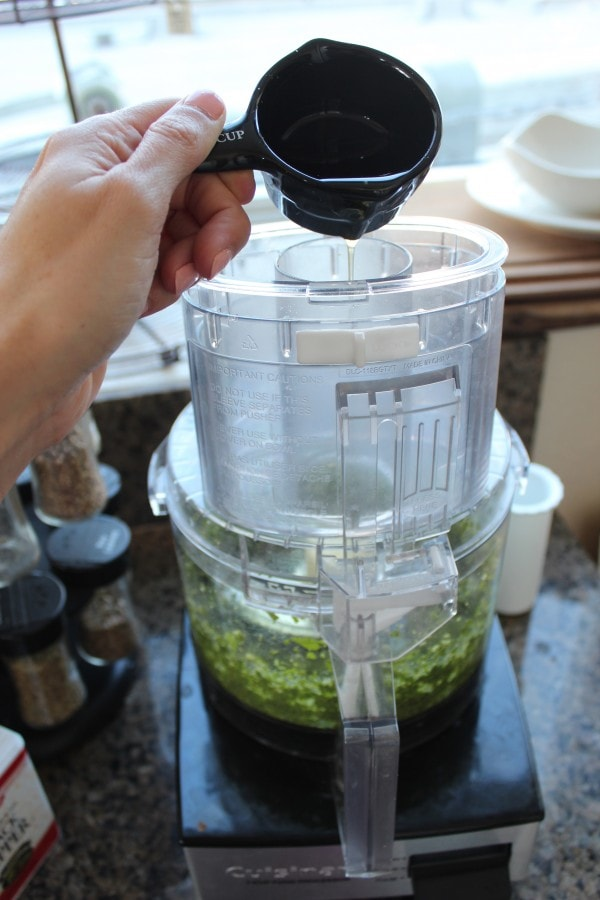 Homemade Pesto in a Food Processor