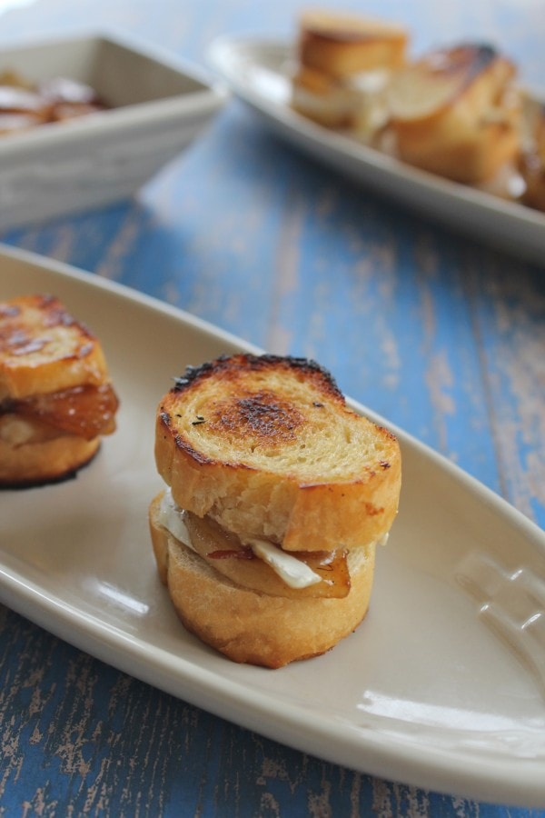 Caramelized Pear and Brie Grilled Cheese