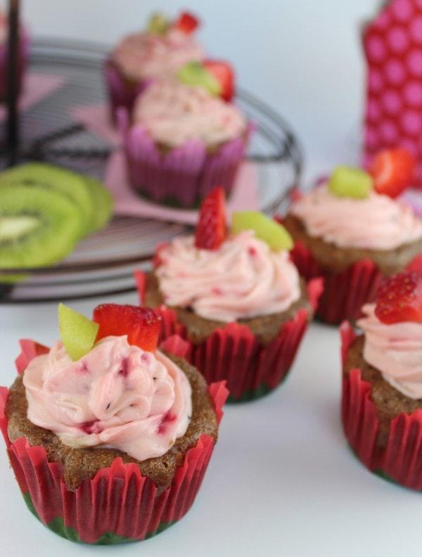 Strawberry Kiwi Cupcake Recipe
