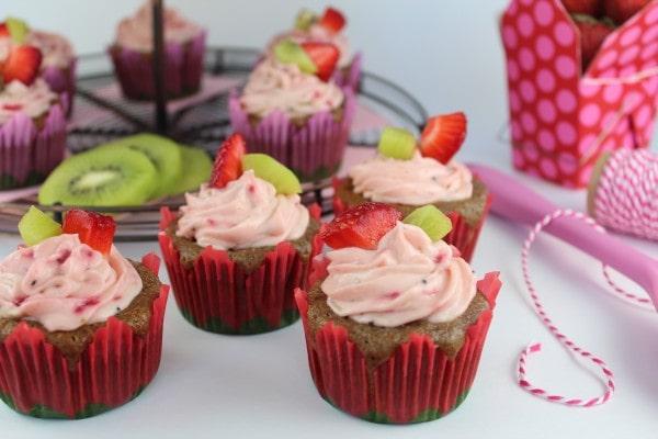 Strawberry Kiwi Cupcakes