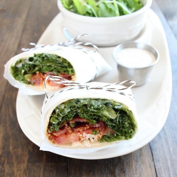 Kale Bacon Wrap