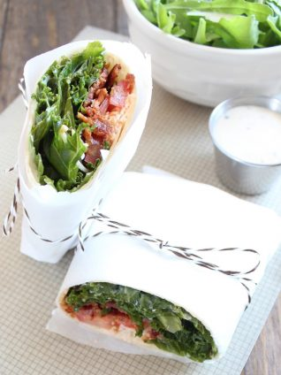 Kale Bacon Caesar Wrap