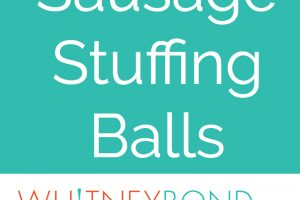 Sausage, potato bread, celery & sage are combined for a little taste of Thanksgiving all rolled up in these easy Sausage Stuffing Balls, perfect as a side dish or party appetizer!