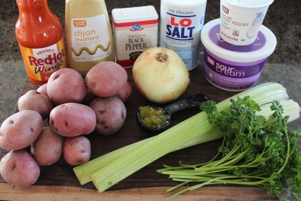 Buffalo Potato Salad Ingredients