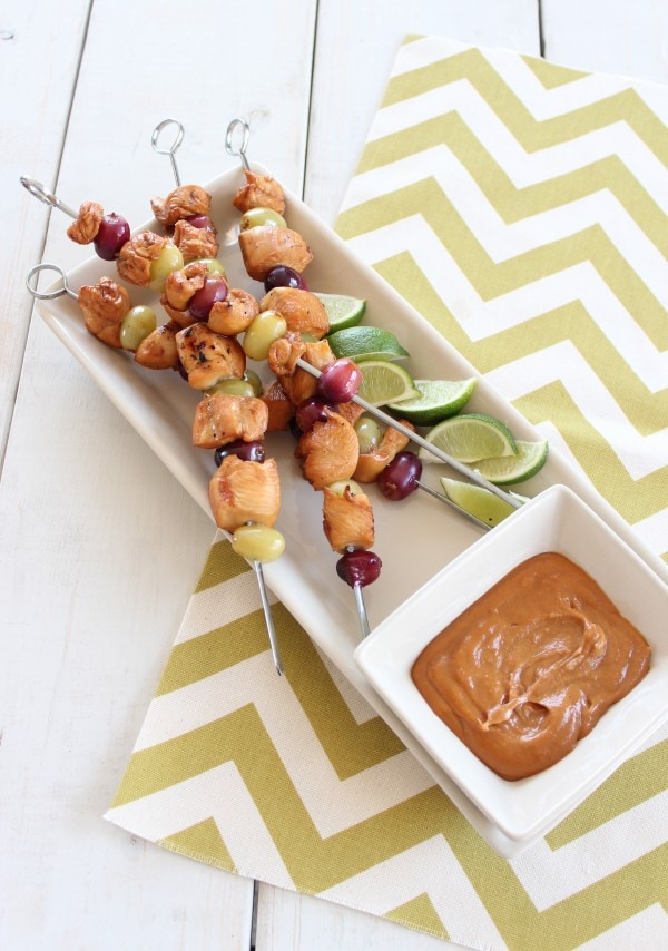 Peanut Butter and Jelly Chicken Skewers