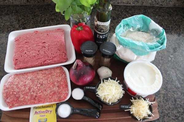 Loaded Calzone Ingredients
