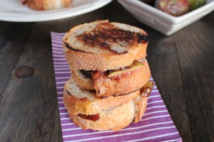 Goat Cheese Honey Fig Grilled Cheese Recipe