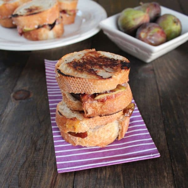Goat Cheese Fig Grilled Cheese | Little Leopard Book