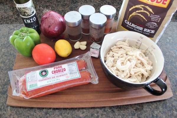 Chicken and Chorizo Paella Ingredients