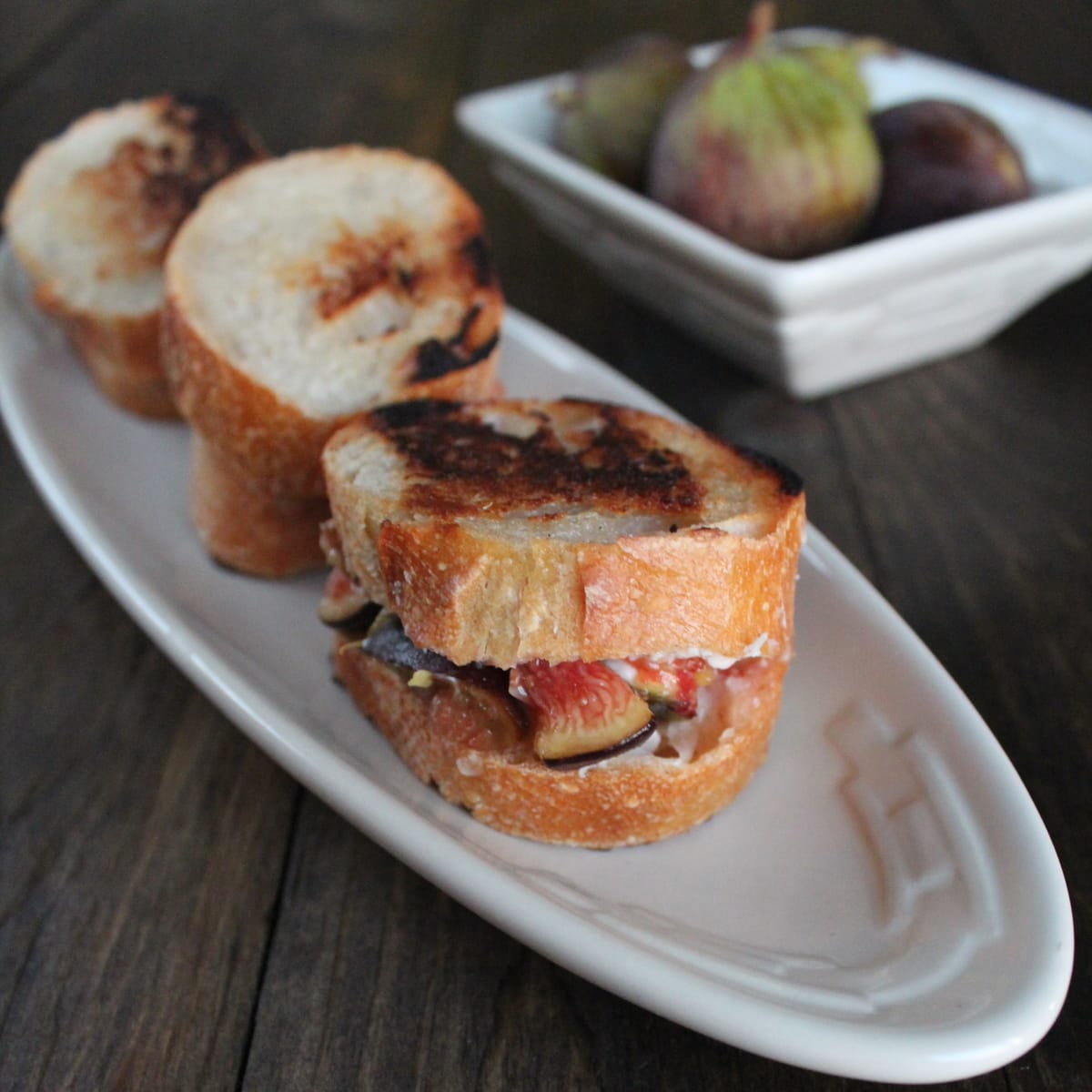 ... honey and paired with goat cheese in this decadent grilled cheese