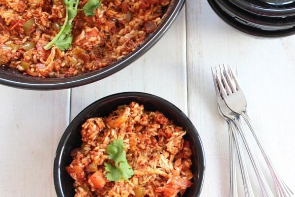 Spicy Spanish Chicken and Chorizo Paella