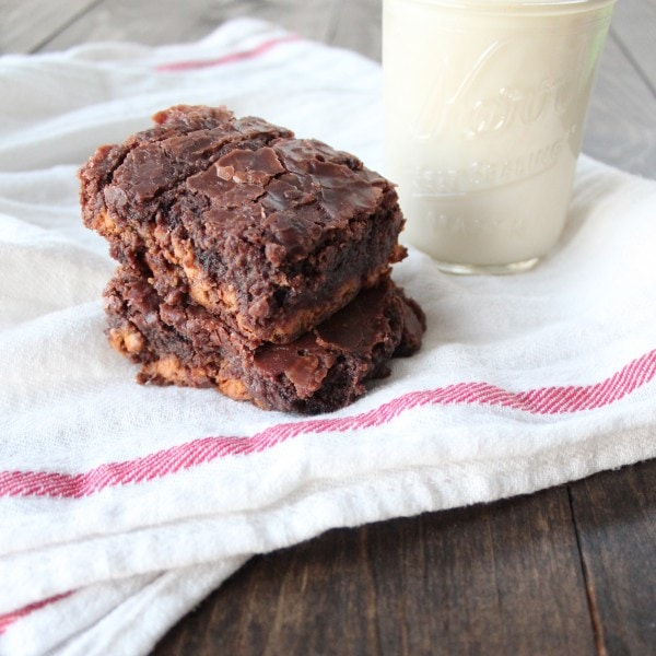 Double Chocolate Peanut Butter Chip Brownies