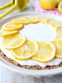 Nothing beats my Grandma Meme's Pink Lemonade Pie Recipe on a warm day! It's the perfect Summer dessert and so easy to make!