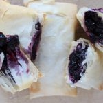 blueberries, phyllo dough, fillo dough, strudels, recipes, breakfast, brunch