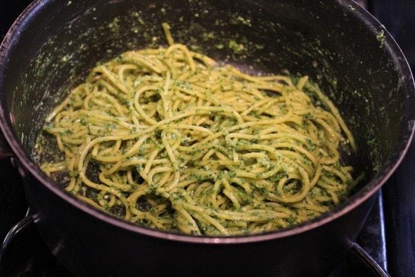 Kale Pesto Spaghetti