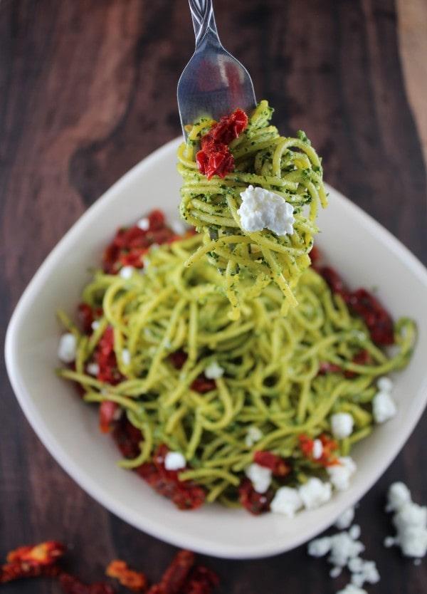Gluten Free Kale Peso Spaghetti