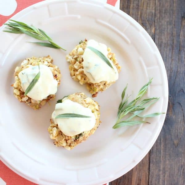 Zucchini Corn Cakes with Tarragon Remoulade