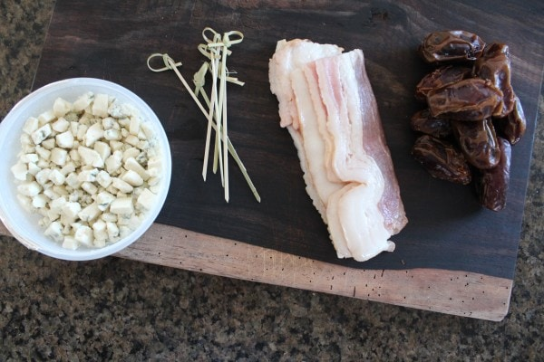 Bacon Wrapped Date Ingredients