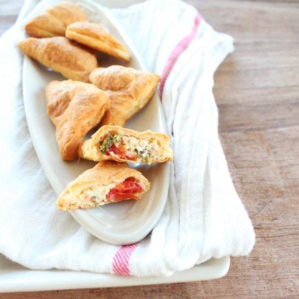 Tomato Basil Feta Crescent Bites
