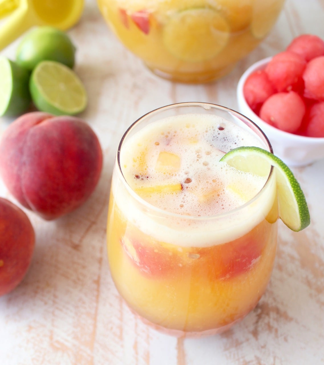 White Peach Sangria Recipe - WhitneyBond.com