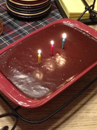Gluten Free Double Chocolate Birthday Cake