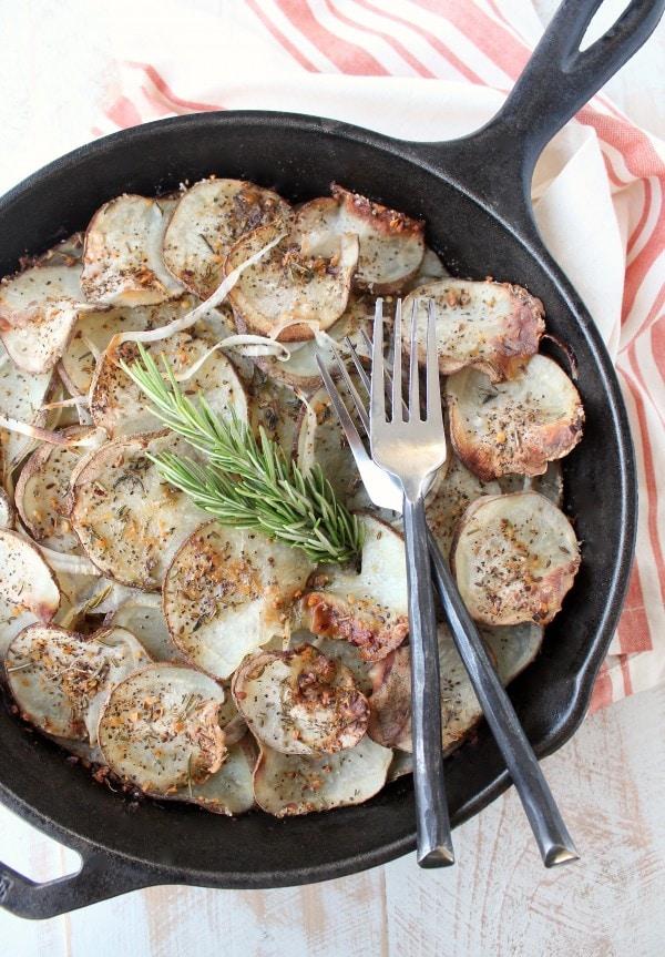 Cast Iron Skillet Rustic Potatoes Recipe