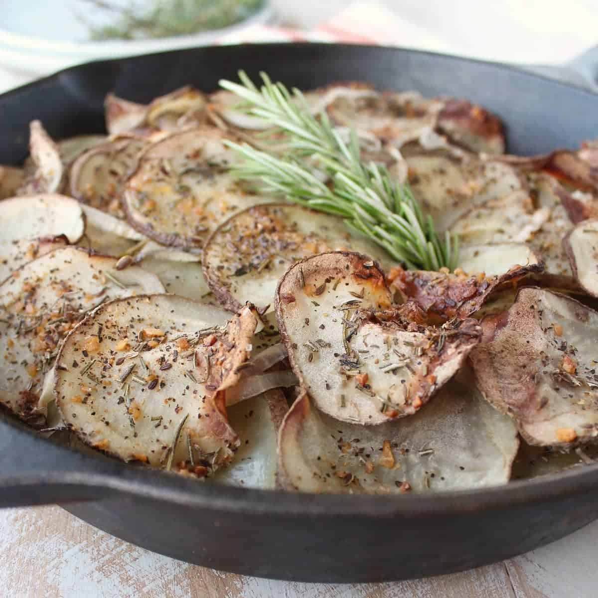 Cast Iron Skillet Rustic Potatoes