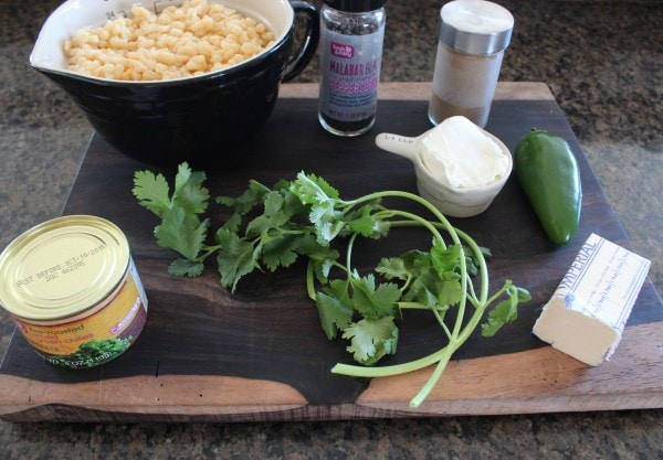 Spicy Creamed Corn Ingredients