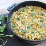 Green Chili Cilantro Creamed Corn