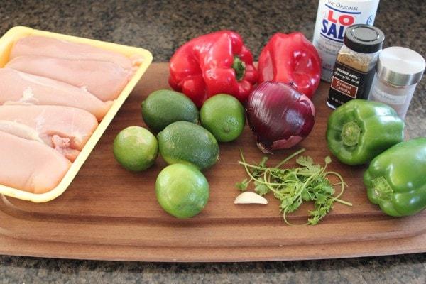 Chicken Fajita Skewer Ingredients