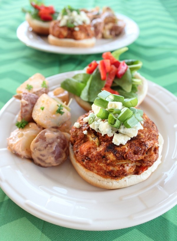 Gluten Free Buffalo Chicken Burgers