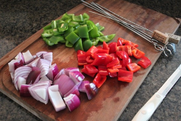 Diced Onions and Bell Peppers