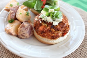 Blue Cheese Buffalo Chicken Burgers
