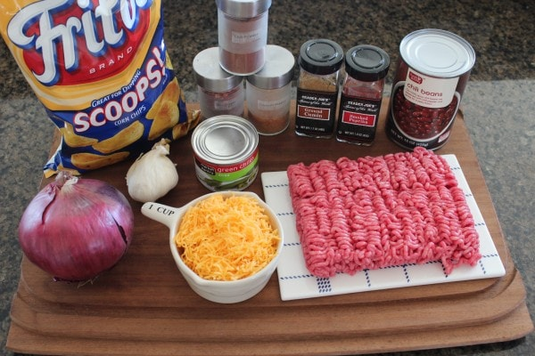 Spicy Frito Chili Pie Ingredients