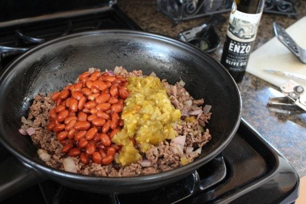 Green Chili Ground Beef and Bean Chili