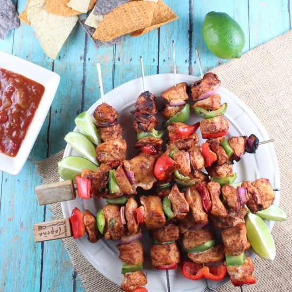 Chipotle Lime Chicken Skewers