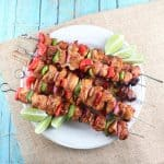 Chipotle Lime Chicken Fajita Skewers