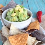 Grilled Pineapple Tomatillo Guacamole
