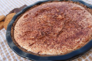 Tiramisu, Tart, Ginger Snap Crust, Chocolate Shavings, cocoa powder, torani, coffee syrup, ricotta, mascarpone, cheese, recipe, dessert