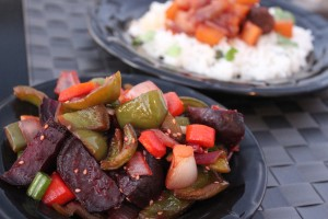 roasted vegetables, asian vegetables, beets, carrots, bell peppers, onions, honey, ginger, soy sauce, sesame seeds