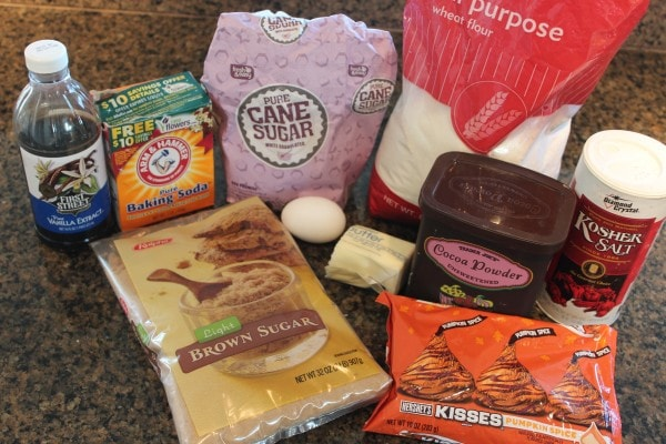 Chocolate Pumpkin Kiss Cookie Ingredients